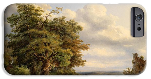 1876 Paintings iPhone Cases - Landscape iPhone Case by Henry Jaeckel