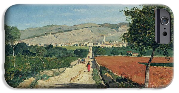 Village iPhone Cases - Landscape in Provence iPhone Case by Paul Camille Guigou