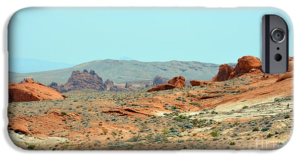 Red Rock Tapestries - Textiles iPhone Cases - Landscape of Colorful Rock iPhone Case by Edna Weber