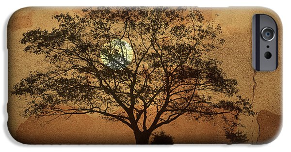 Dave Digital Art iPhone Cases - Landscape On Adobe Wall iPhone Case by David Gordon