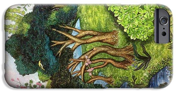 Landscapes Reliefs iPhone Cases - Landscape  iPhone Case by Poonam S kohli