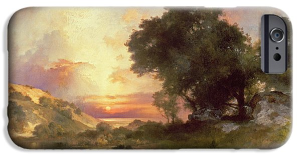 Hudson River iPhone Cases - Landscape iPhone Case by Thomas Moran