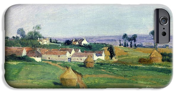 Village iPhone Cases - Landscape iPhone Case by Victor Vignon