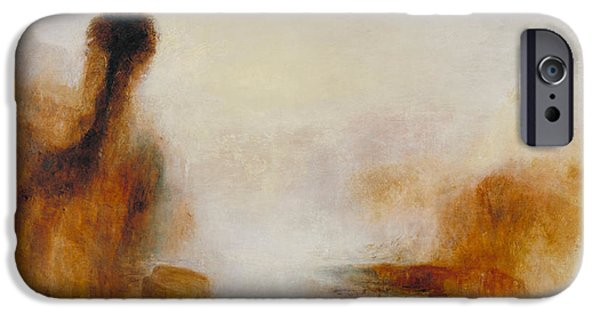 Nature Study Paintings iPhone Cases - Landscape With Water iPhone Case by William Turner