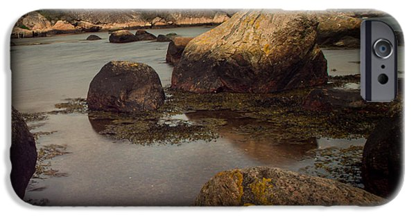 Norway iPhone Cases - Langestrande Mandal iPhone Case by Mirra Photography
