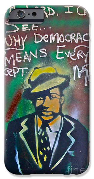 First Amendment Paintings iPhone Cases - Langston Hughes iPhone Case by Tony B Conscious