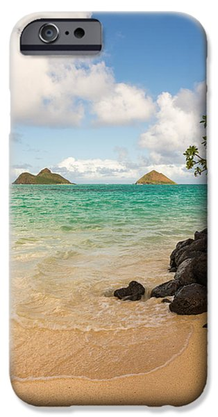 Beach Landscape iPhone Cases - Lanikai Beach 1 - Oahu Hawaii iPhone Case by Brian Harig
