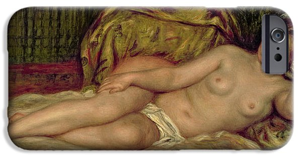 Renoir iPhone Cases - Large Nude iPhone Case by Pierre Auguste Renoir