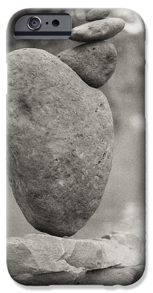 River Sculptures iPhone Cases - Large offset by small iPhone Case by Kai Drachenberg