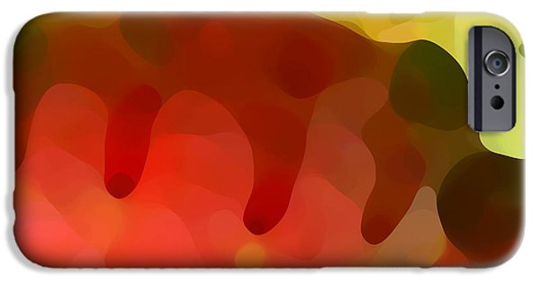 Abstract Digital Paintings iPhone Cases - Las Tunas Ridge iPhone Case by Amy Vangsgard