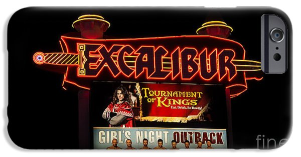 Chip iPhone Cases - Las Vegas Excalibur iPhone Case by Super Jolly