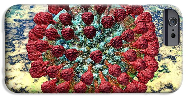 Microbiology Digital iPhone Cases - Lassa Virus iPhone Case by Russell Kightley
