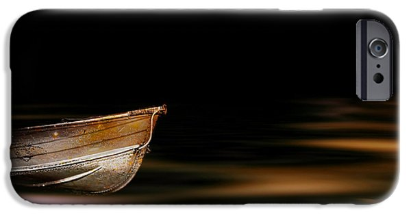 Mystical Landscape Mixed Media iPhone Cases - Last Journey iPhone Case by Photodream Art