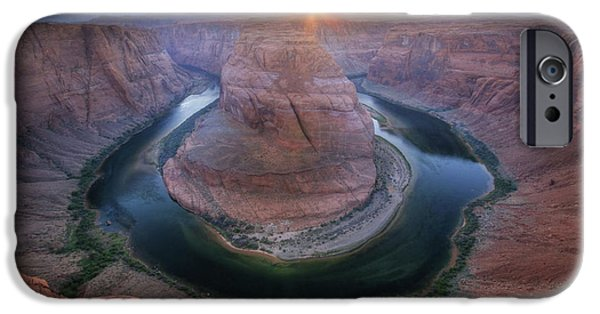 Horse iPhone Cases - Last Light at Horseshoe Bend iPhone Case by Lori Deiter
