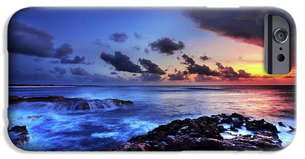Beach Landscape iPhone Cases - Last Light iPhone Case by Chad Dutson
