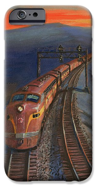 Tuscan Sunset Paintings iPhone Cases - Last Light iPhone Case by Christopher Jenkins