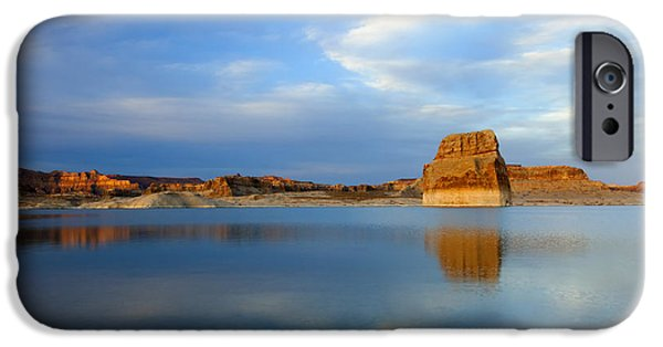 Lake Powell iPhone Cases - Last Light over Lake Powell iPhone Case by Mike Dawson