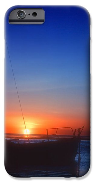 Sailboats In Water iPhone Cases - Last Light iPhone Case by Stephen Anderson