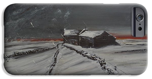 Winter Storm iPhone Cases - Last Stop iPhone Case by David Coldwell