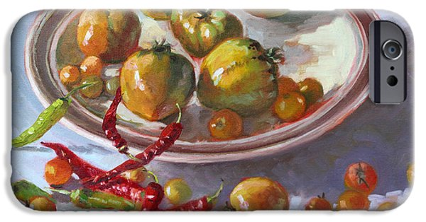 Chilli iPhone Cases - Last Tomatoes from my Garden iPhone Case by Ylli Haruni