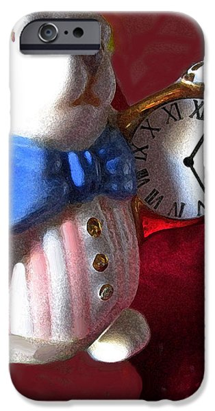 Alice In Wonderland iPhone Cases - Late iPhone Case by Ian  MacDonald
