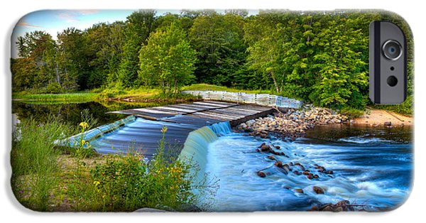 David iPhone Cases - Late in the Day at the Lock and Dam iPhone Case by David Patterson