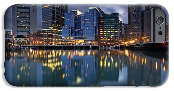 City. Boston iPhone Cases - Late Night iPhone Case by Juergen Roth