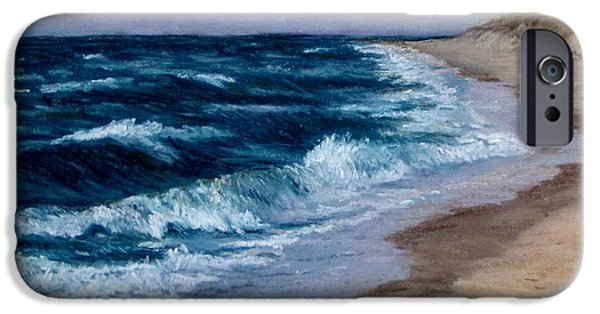Jack Skinner iPhone Cases - Late Spring at Cold Storage Beach iPhone Case by Jack Skinner