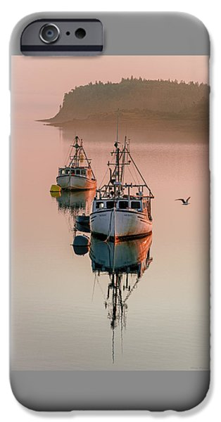 Fog Mist iPhone Cases - Late Starter and Lifes Treasures Tranquil Morning Mist iPhone Case by Marty Saccone