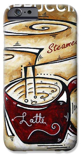 Latte by MADART iPhone Case by Megan Duncanson