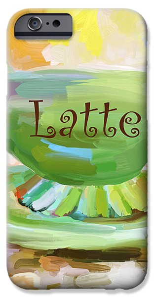 Latte Coffee Cup iPhone Case by Jai Johnson