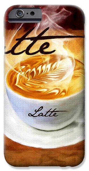 Latte iPhone Case by Lourry Legarde