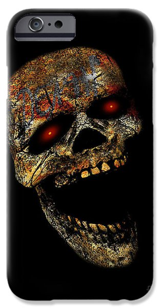 Creepy iPhone Cases - Laughing Death iPhone Case by Dia T