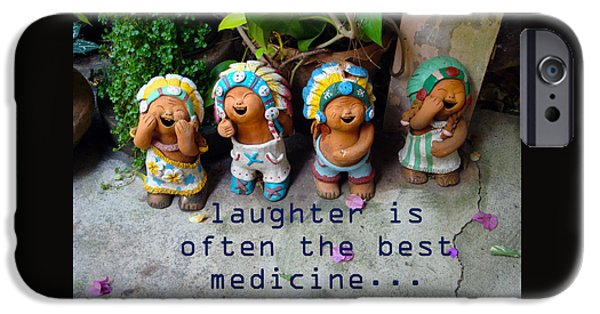 Little iPhone Cases - Laughter Is Often The Best Medicine iPhone Case by Kim Magee and Crystal Mclean  Aunt and Niece Photography