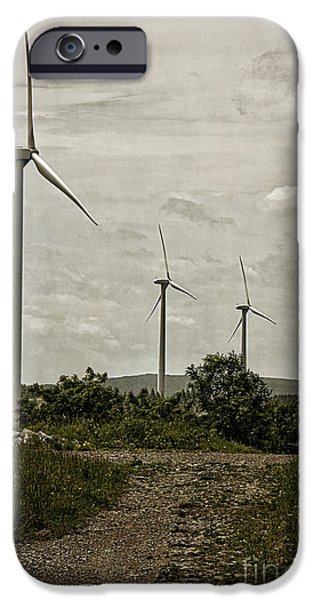 Technology iPhone Cases - Laurel Ridge Windmills iPhone Case by Tom Gari Gallery-Three-Photography