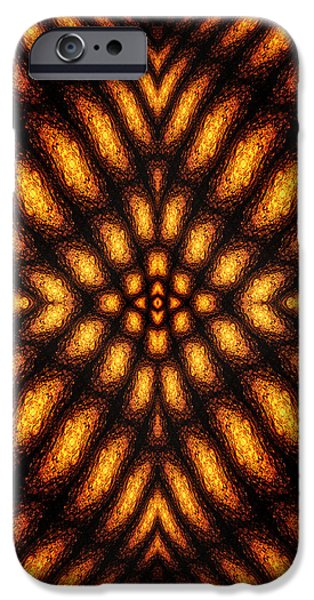 Abstract Digital iPhone Cases - Lava Flow Pattern iPhone Case by Phil Perkins