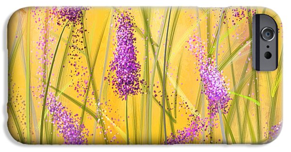 Purple And Green iPhone Cases - Lavender Beauties iPhone Case by Lourry Legarde