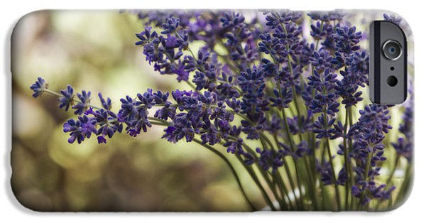 Lavender iPhone Cases - Lavender Bokeh iPhone Case by Rebecca Cozart