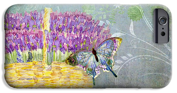 Basket Mixed Media iPhone Cases - Lavender Dreams iPhone Case by Audrey Jeanne Roberts
