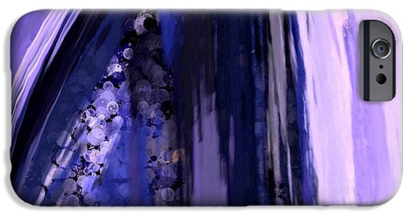 Abstract Digital Tapestries - Textiles iPhone Cases - Lavender Dreams iPhone Case by Suzi Freeman
