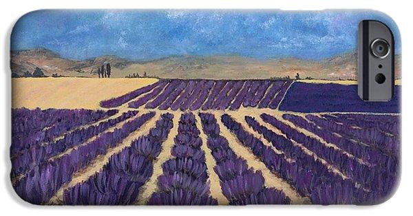 Rhone Alpes iPhone Cases - Lavender Field iPhone Case by Anastasiya Malakhova