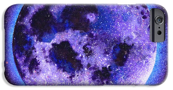 Gallery Sati iPhone Cases - Lavender Moon iPhone Case by Shelley Irish