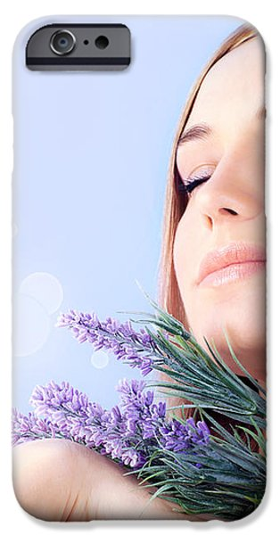 Lavender spa aromatherapy  iPhone Case by Anna Omelchenko