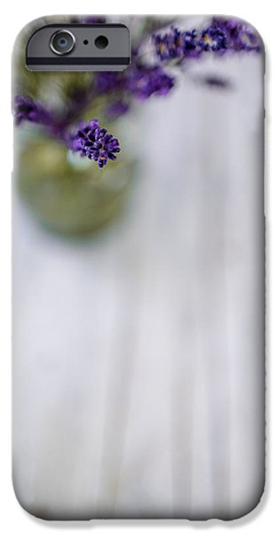 Lavender iPhone Cases - Lavender Still Life iPhone Case by Nailia Schwarz