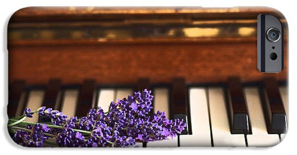 Piano iPhone Cases - Lavenders Blue iPhone Case by Rumyana Whitcher