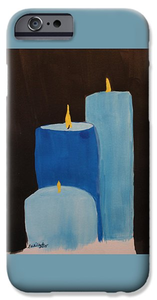Police iPhone Cases - Law Enforcement Candle Tribute iPhone Case by Elizabeth Kilbride