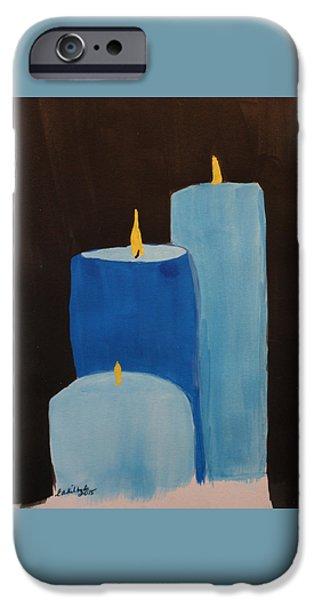 Law Enforcement iPhone Cases - Law Enforcement Candle Tribute iPhone Case by Elizabeth Kilbride