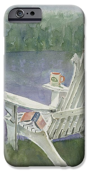 Lawn Chair By The Lake iPhone Case by Arline Wagner