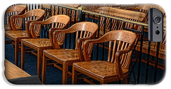 Empty Chairs iPhone Cases - Lawyer - The Courtroom iPhone Case by Paul Ward