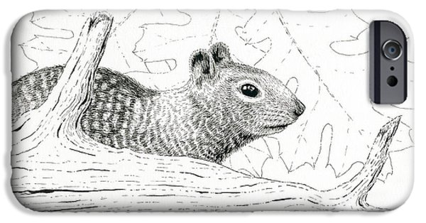 Pen And Ink iPhone Cases - Laying Low iPhone Case by Timothy Livingston